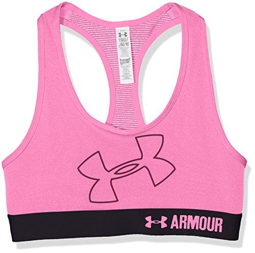 Under Armour Girls Bras (Under Armour Kids Girl's Logo Bra (Big Kids) Pink Punk/Pink Punk/Pink Punk X-Large)