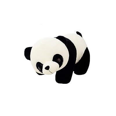 Guyuexuan Panda Doll Peluches, muñecas, último Oso de Peluche Panda Gigante Almohada Larga for Dormir Oso de Peluche for niños Navidad, cumpleaños, Regalos de Regalo en Blanco y neg: Juguetes y juegos
