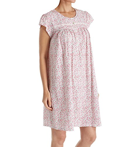 Eileen West Floral Jersey Short Nightgown (5019858) L/White Packed Floral -