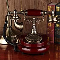 Antique telephone Continental retro old solid wood wireless card living room phone home phone new , a