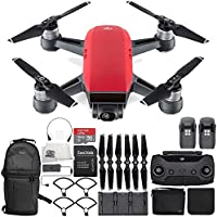DJI Spark Portable Mini Drone Quadcopter Fly More Combo Ultimate Backpack Bundle (Lava Red)