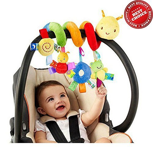 The Best Quality Baby Stroller Toy, Spiral Activity Toy Around Crib Rail, Bed Hanging Toys, Car Seat Toy with 100% Cotton and Safe for Baby