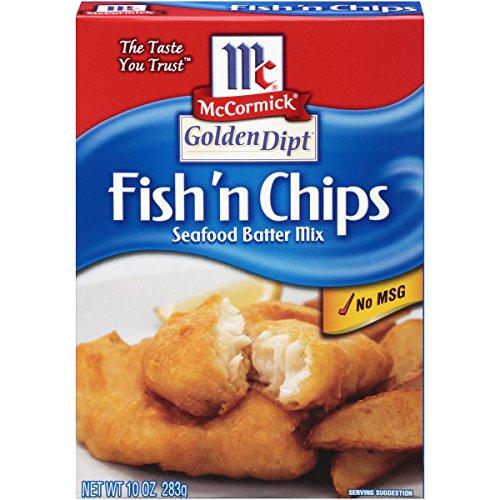 McCormick Golden Dipt Fish 'n Chips Seafood Batter Mix, 10 oz - 8 cartons (Pack of 8)
