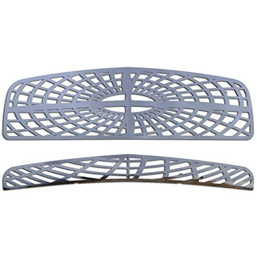 Polished Stainless Spider Web Grille Grill Insert Trim fits: 2006-2010 Dodge Charger - Ferreus Industries - TRK-110-07