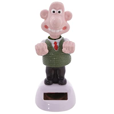 Puckator Wallace (Wallace & Gromit) Solar Powered Pal, Height 13cm Width 5.5cm Depth 6cm, Mixed: Home & Kitchen