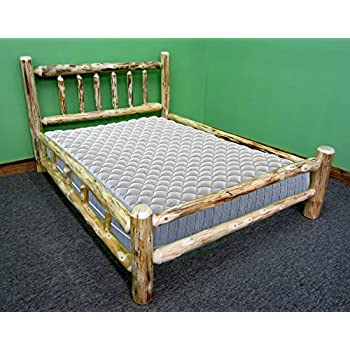 midwest log furniture rustic log bed full