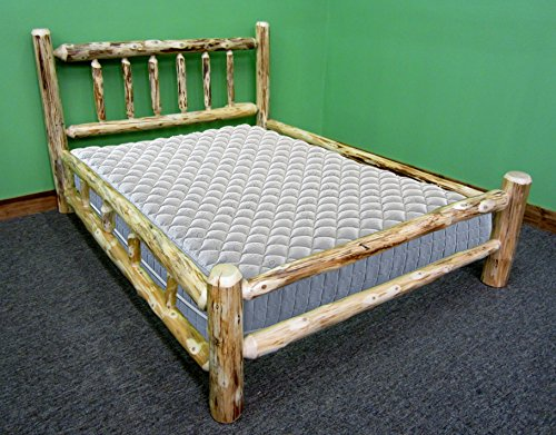 - Midwest Log Furniture - Rustic Log Bed - Queen