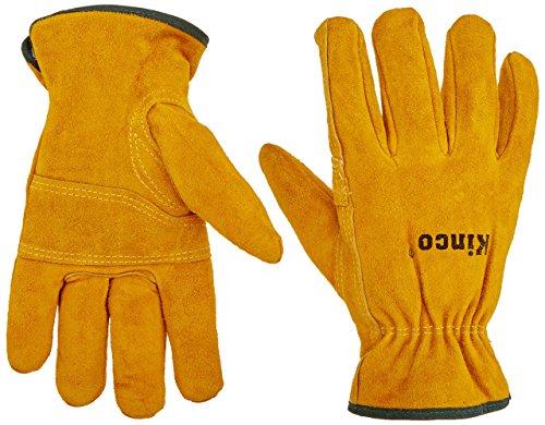 (Kinco 51pl-m Lined Split Cowhide Leather Driver Gloves, Medium)