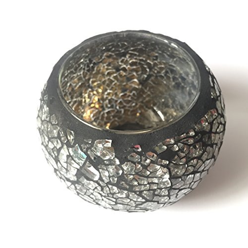 r Glass) Tea Light Candle Holders Mosaic Candle Holder is for Weddings and Home Décor (Iris Stained Glass Fireplace Screen)