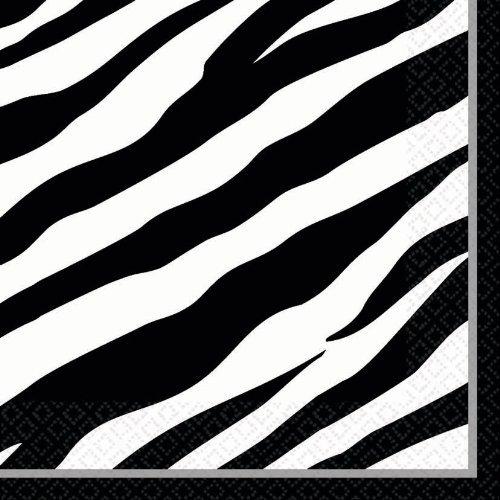 Zebra Stripes Animal Print Large Napkins (36ct) ()