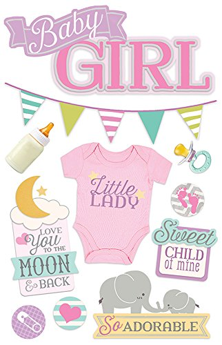 Daisy D Scrapbook Paper (Paper House Productions STDM-0263E 3D Stickers, Baby Girl)