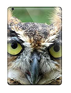 Tpu Cases Covers For Ipad Air Strong Protect Cases - Great Horned Owl Design