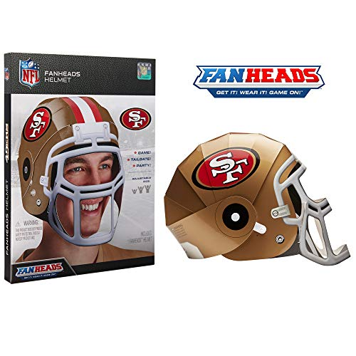 FanHeads San Francisco 49ers - Wearable NFL Replica Helmets - Pick Your Team!