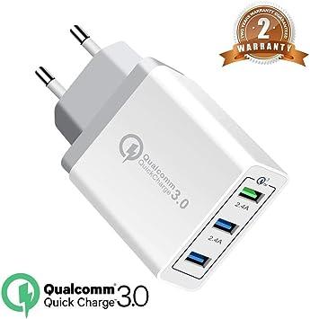 OENLY QC3.0 USB Cargador rápido Cargador Movil Universal Adaptador, 30W 3Port QC3.0 2.0 Smart Cargo sólido Desmontables en Lote schnellladeger para
