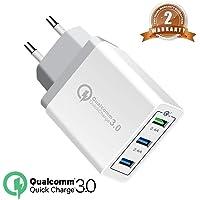 QC3.0 USB Cargador 30W rápido Cargador Movil Universal Adaptador, 3Port QC3.0 2.0 Smart Cargo sólido Desmontables en Lote schnellladeger para SamsungS9S8Note9,iPhone iPad,LG Nexus Huawei HTC