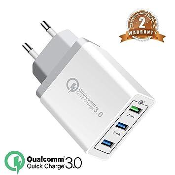 OENLY QC3.0 USB Cargador rápido Cargador Movil Universal Adaptador, 30W 3Port QC3.0 2.0 Smart Cargo sólido Desmontables en Lote schnellladeger para ...