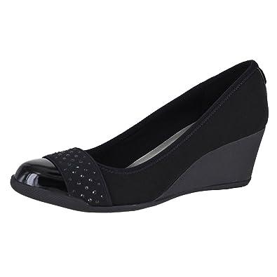 Amazon.com | Anne Klein Sport Terrific Black Multi Fabric Womens Wedge  Pumps Size 8M | Pumps