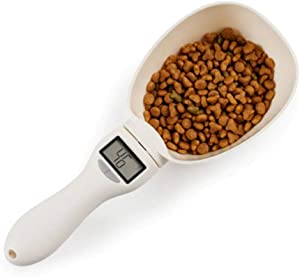 unknow 800g / 1g pet Food Scale Cup for Cats and Dogs Feeding Bowl Kitchen Scale Spoon Measuring Spoon Cup Portable with LED Display New