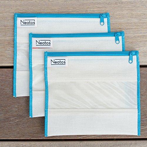 neat-os-3pk-sandwich-sized-reusable-bag-set-aqua