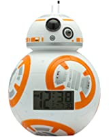 BulbBotz Star Wars BB-8 Kids Light Up Alarm Clock | white/orange | plastic | 7.5 inches tall | LCD display | boy girl | official