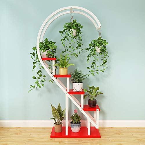 per interni Creativo supporto in metallo a forma di cuore espositore da pavimento trattamento antiruggine 1 Color balcone per soggiorno bonsai
