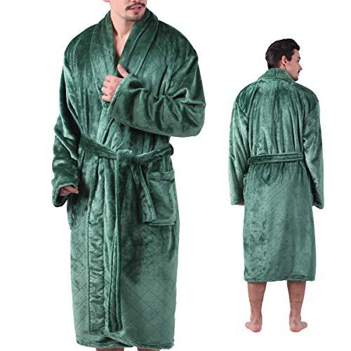 ALL AOER Bathrobe for Men, Sleepwear Nightwear Robes, Terry Cloth Big Tall Lightweight Seagreen (Funny Men Bathrobe)