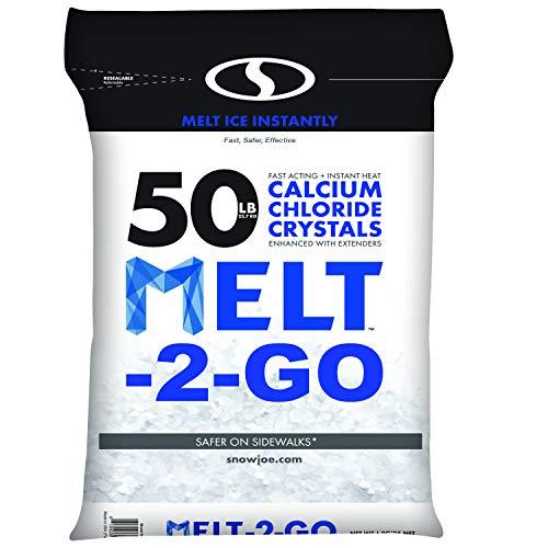Snow Joe AZ-50-CC Melt-2-Go Resealable Bag Premium Calcium Chloride Crystal Ice Melter, 50 ()