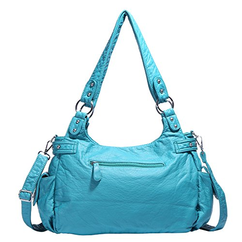 Angelkiss Handbags Bags Design Womens Multiple Purse Top Large Shoulder Pockets Soft Feel Lether Zipper H5Hrqw