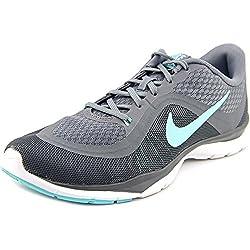 Womens Nike Flex Trainer 6 Training Shoes Cool Greyhyper Turquoisedark Grey Size 9
