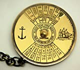 honda grinder - Marine Solid Brass 100 yrs CALENDAR Key Chain from Brass Blessing (5039-38)