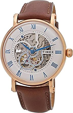 Timex Automatic Analogue Silver Dial Men's Watch - TWEG16705 Men at amazon