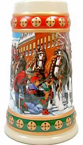 Budweiser Holiday Steins Collectible Holiday Stein Series (Year 1994) - Budweiser Car