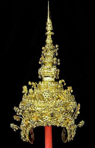 Ramthai Costumes (Thai Dance Headdress Ram-thai Crown Dancer Head Dress Costume Best Price Free Shipping From Thailand)