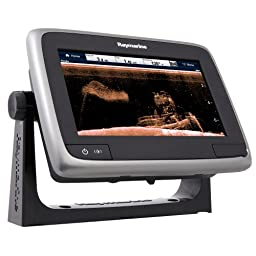 Raymarine a78 Multifunction Display with CPT-100DVS Transom Mount Transducer & Lighthouse Navigation Chart, 7\