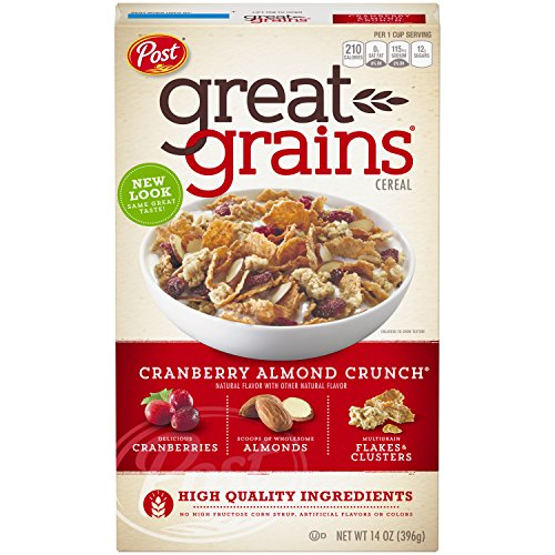 Post Great Grains Cranberry Almond Crunch Whole Grain Cereal 14 (Great Grains Cereal)