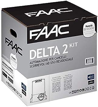 FAAC DELTA 2KIT AUTOMAZIONE para puertas correderas ad uso residenziale con peso max 500kg con luz estroboscópica 230V Motor Encoder incluida y par de fotocélulas XP 1056303445