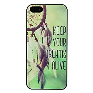 New Brand Keep Your Dreams Alive Green Back Skin Hard Back Case Cover for iPhone 6 Plus(5.5 inch) 1392936M10164628