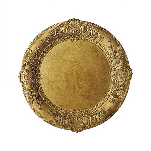 ChargeIt by Jay 1320425 Embossed Charger Plate, Gold by ChargeIt by Jay