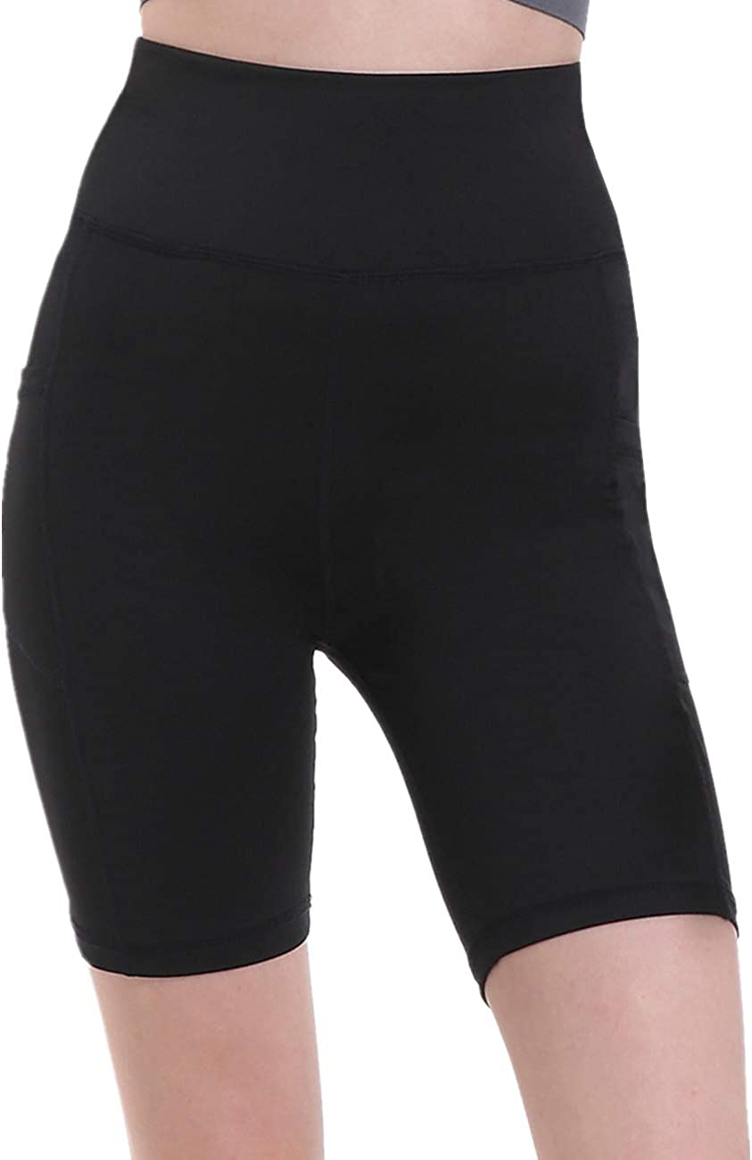 """Holure Women's 8"""" Inseam High Waist Workout Yoga Running Compression Shorts with Pocket"""