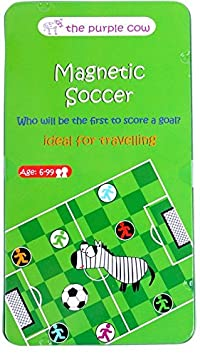 The Purple Cow Magnetic Travel Mini Soccer Game Airplane Games and Quiet Games Car Games