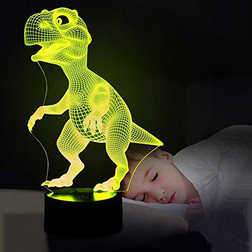 -[ 3D Night Lights for Children, Kids Night Lamp, Dinosaur Toys for Boys, 7 LED Colors Changing Lig