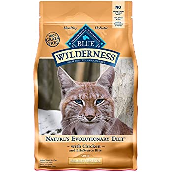 Blue Buffalo Wilderness High Protein Grain Free, Natural Adult Weight Control Dry Cat Food, Chicken 11-lb