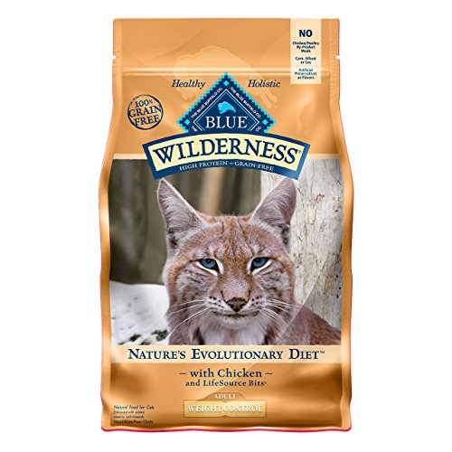 BLUE Wilderness Adult Weight Control Grain Free Chicken Dry Cat Food 5-lb