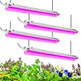 Byingo 4ft LED Grow Light, 168W (4 x 42W) 2-Row