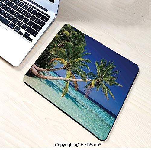 Personalized 3D Mouse Pad Maldives Bay Summer Pacific Holiday Destinations Decorative for Laptop ()