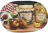 Sweet Home Collection Braided Kitchen Printed Oval Floor Mat, 20'' x 30'', Mason Jar
