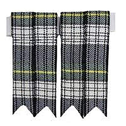 New Mens Plain & Tartan Plaid Kilt Sock Flashes (Dress Gordon UM-001FL)