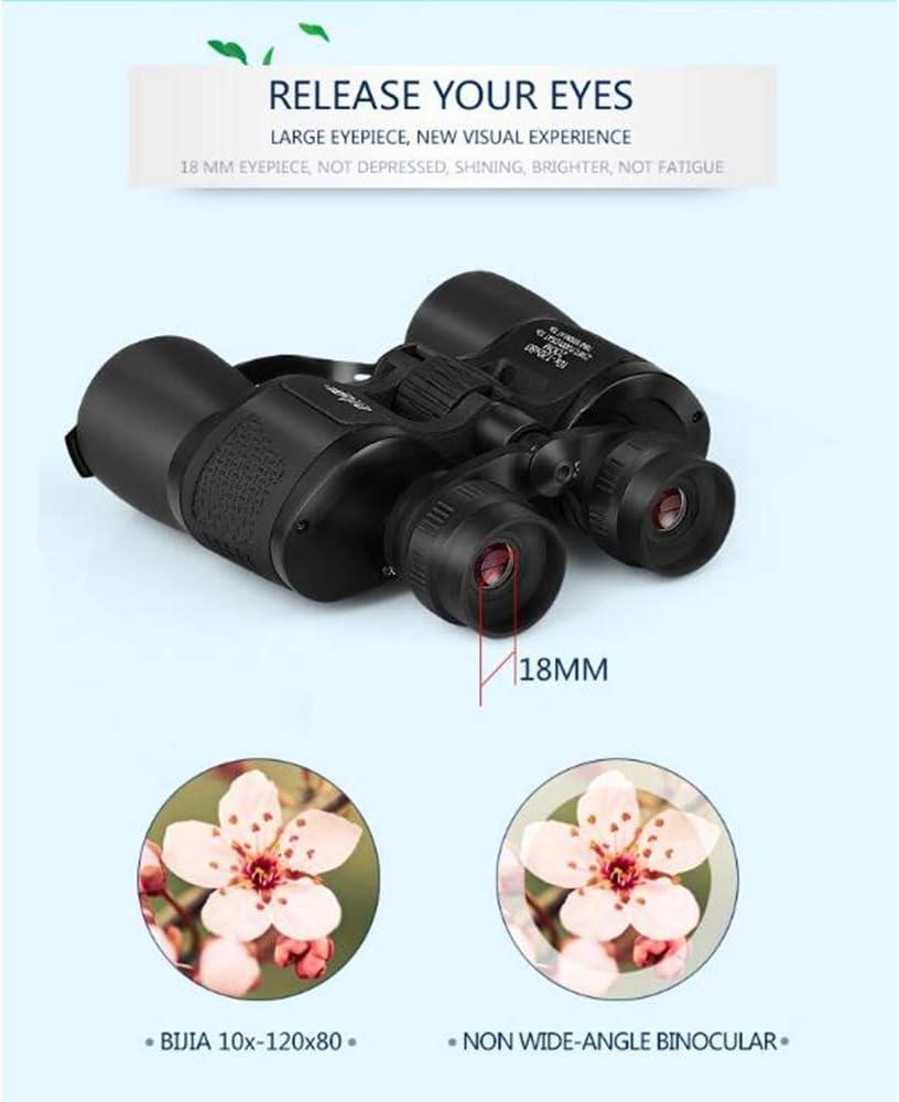 HUATXING 120X80 binoculares de Gran Alcance telescopio de Caza de Zoom prism/áticos Profesionales HD nitr/ógeno Resistente al Agua