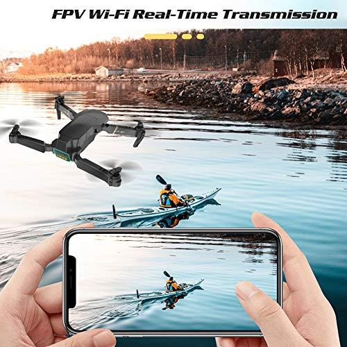Adsvtech FPV Mini Drone con cámara para adultos, cámaras duales 1080P HD, WiFi RC Quadcopter, aplicación de helicóptero, controlador inteligente, foto / video de gestos, retención de altitud, auriculares 3D Flip RTF VR