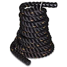 VIVOHOME Poly Dacron Heavy Training Battle Rope 1.5/2.0 Inch Thickness 30/40ft Length for Workout Fitness and Exercise